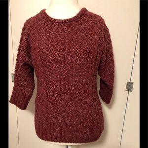 LOFT maroon sweater - S